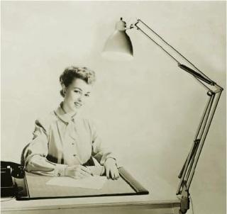Publicidad de la época de la lámpara Luxo L-1