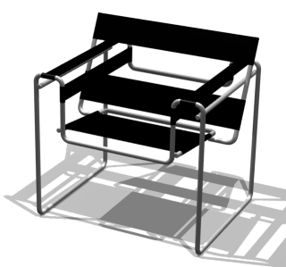 Silla Wassily (render)